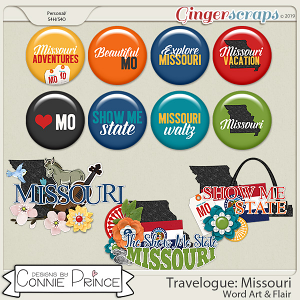 Travelogue Missouri - Word Art & Flair Pack by Connie Prince