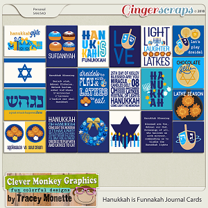 Hanukkah is Funnakah Journal Cards by Clever Monkey Graphics