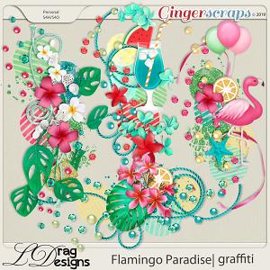 Flamingo Paradise: Graffiti by LDragDesigns