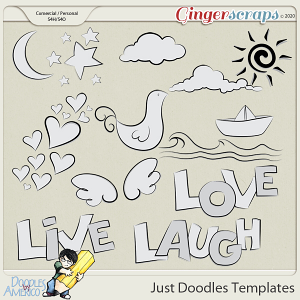 Doodles By Americo: Just Doodles Templates