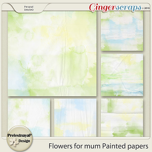 Flowers for mum Painted papers