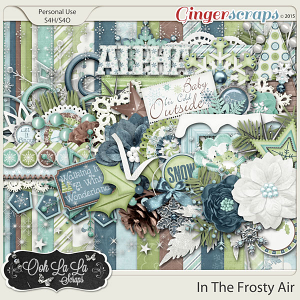 In The Frosty Air Digital Scrapbook Kit
