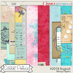 #2018 August - Messy Papers by Connie Prince