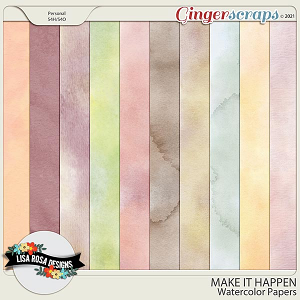 Make it Happen - Watercolor Papers by Lisa Rosa Designs