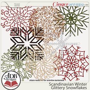 Scandinavian Winter Snowflakes by ADB Designs