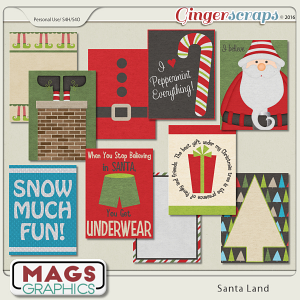 Santa Land JOURNAL CARDS by MagsGraphics