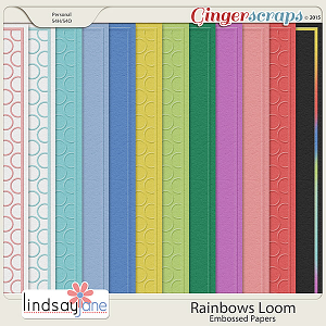 Rainbows Loom Embossed Papers by Lindsay Jane