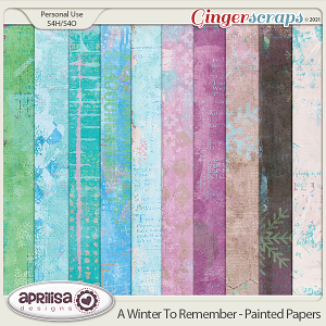 A Winter to Remember - Painted Papers by Aprilisa Designs