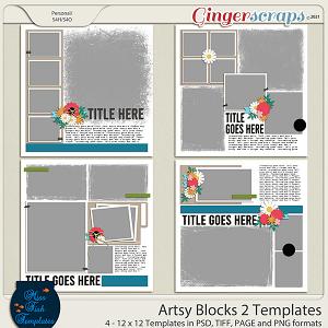 Artsy Blocks 2 Templates by Miss Fish
