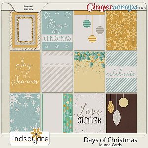 Days of Christmas Journal Cards by Lindsay Jane