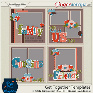 Get Together Templates by Miss Fish