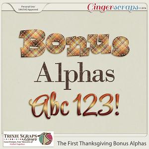 The First Thanksgiving Bonus Alphas by Trixie Scraps Designs