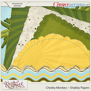 Cheeky Monkey Shabby Papers