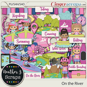 On the River GIRL ELEMENTS by Heather Z Scraps