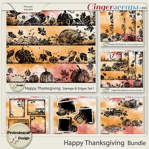 Happy Thanksgiving Masks & Stamps Bundle