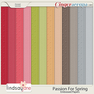 Passion For Spring Embossed Papers by Lindsay Jane