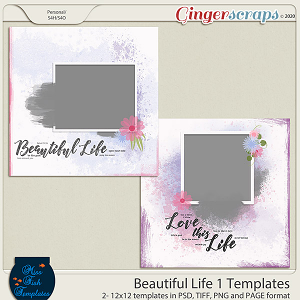 Beautiful Life 1 Templates by Miss Fish