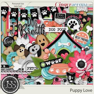 Puppy Love Digital Scrapbook Kit