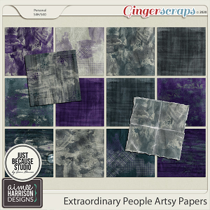 Extraordinary People Artsy Papers by Aimee Harrison and JB Studio