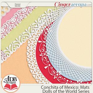 Conchita Lace Edged Mats {DOTW Mexico} by ADB Designs