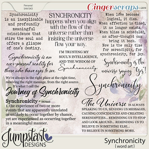 Synchronicity {Word Art} by Jumpstart Designs