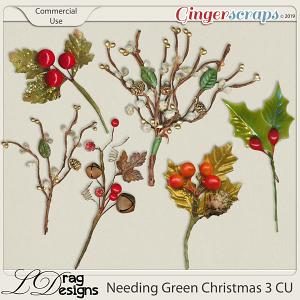 Needing Green Christmas 3 CU by LDragDesigns