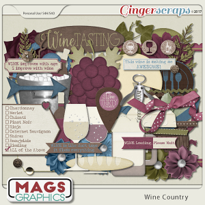 Wine Country ELEMENTS by MagsGraphics