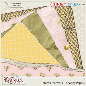 Mum's the Word Shabby Papers