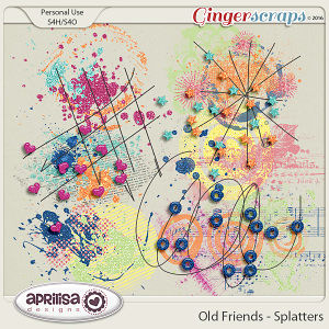 Old Friends - Splatters by Aprilisa Designs