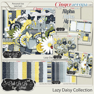 Lazy Daisy Digital Scrapbook Collection