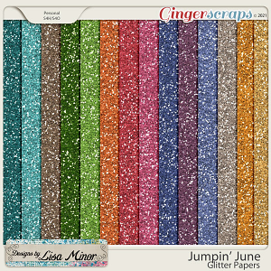 Jumpin' June Glitter Papers from Designs by Lisa Minor