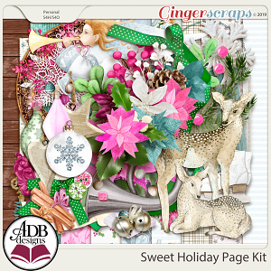 Sweet Holiday Page Kit by ADB Designs