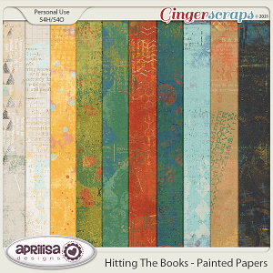 Hitting The Books - Painted Papers by Aprilisa Designs