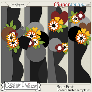 Beer Fest - Border Cluster Templates (CU Ok) by Connie Prince