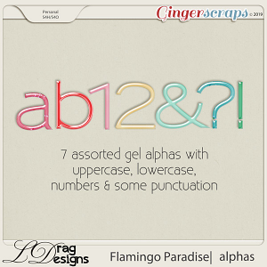Flamingo Paradise: Alphas by LDragDesigns