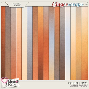October Days Ombre Papers - By Neia Scraps