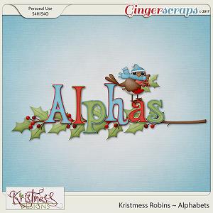 Kristmess Robins Alphabet