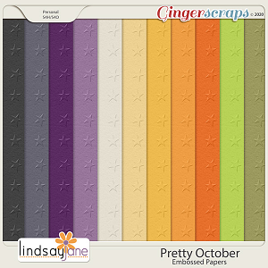 Pretty October Embossed Papers by Lindsay Jane