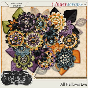 All Hallows Eve Layered Flowers