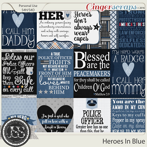 Heroes In Blue Journal and Pocket Scrap Cards