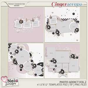 Photo Addict - Templates VOL.2 - By Neia Scraps