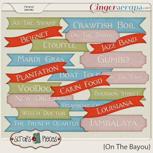 On the Bayou wordbits by Scraps N Pieces