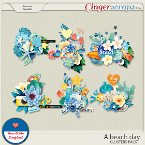 A beach day - clusters pack 1