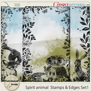 Spirit animal Stamps & Edges Set1