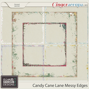 Candy Cane Lane Messy Edges by Aimee Harrison