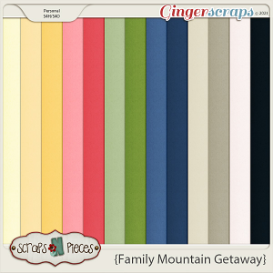 Family Mountain Getaway Cardstocks by Scraps N Pieces