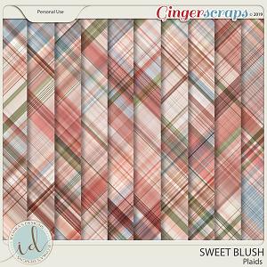 Sweet Blush Plaids by Ilonka's Designs