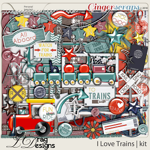 I Love Trains by LDrag Designs