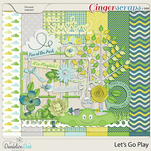 Let's Go Play Digital Scrapbook Kit By Dandelion Dust Designs