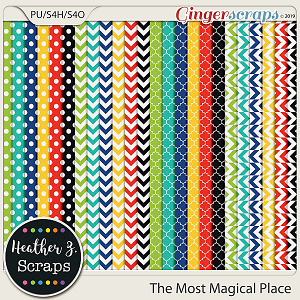 The Most Magical Place EXTRA PAPERS by Heather Z Scraps